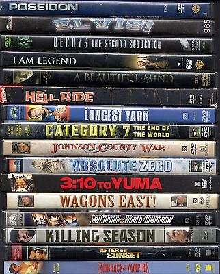 Lot of 50 DVDs used Untouchables Spider-Man Madea Elvis! Last Samurai RayZodiac