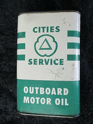 Vintage Cities Service Outboard Motor Oil 1 qt. tin can