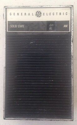 General Electric Solid State Black AM Radio