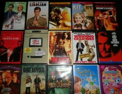 Lot of 100 Used ASSORTED DVD Movies - 100 Bulk DVDs - Used DVDs Lot - Wholesale