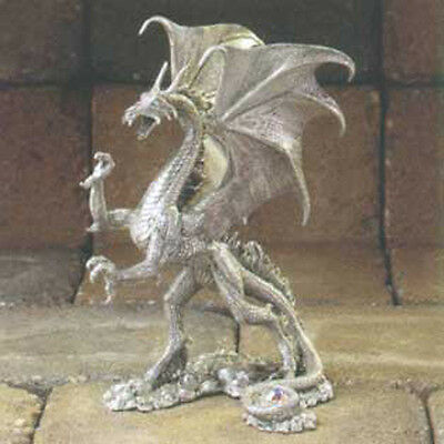 Charr Dragon of Flame and Fury Pewter Figurine Rawcliffe Sandra Garrity