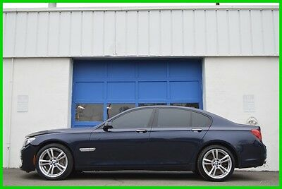 2012 BMW 7-Series 750i M-Sport MSport Cold Pkg Premium Nav Loaded Repairable Rebuildable Salvage Lot Drives Great Project Builder Fixer Easy Fix