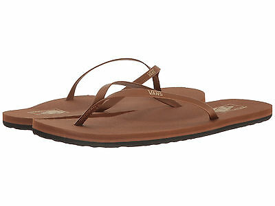 04cf75816f New Women Vans Flip Flop Sandal Malta Brown Medium Width Free Shipping  Synthetic