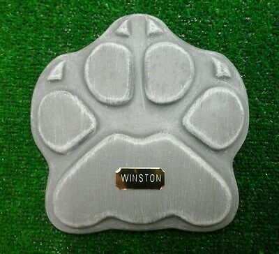 Dog or cat xl Large Pet Memorial/stone/grave marker/memorial with plaque 2