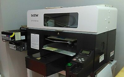 Direct to Garment, Brother GT-381 printer, Exc. cond./print quality
