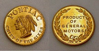 """Choice Uncirculated Pre 1955 Pontiac """"chief Of The Sixes"""" Medal/token"""