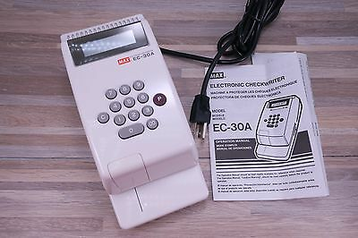 Check Writers Max EC-30A Electronic Checkwriter, 10-Digit