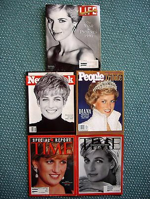 5 Princess Diana Limited Edition Commemorative 1997-1998 Magazines~Brand New!!!
