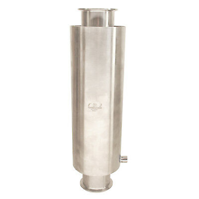 """HFS(R) 4"""" X 24"""" Stainless Sanitary Dewax Chamber Fits Tri-Clamp Ferrule Flange"""