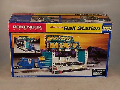 Rokenbok System~ Monorail Rail Station Add On Build 06323 NEW IN BOX 120 Pcs