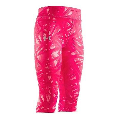 Under Armour Girls Divergent Capri Leggings Pink Patterned Size 5 NWT