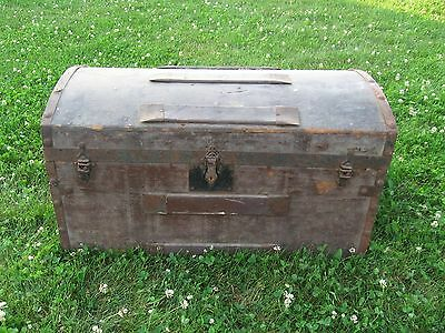 Antique Vintage Wooden Chest Trunk coffee table end table