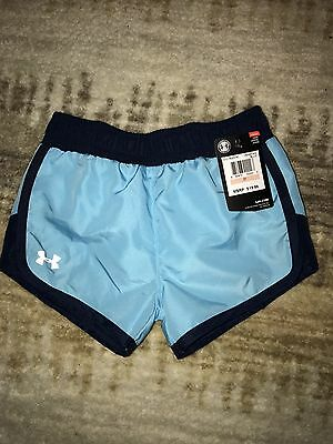 Under Armour Girls Shorts Blue 2T NWT