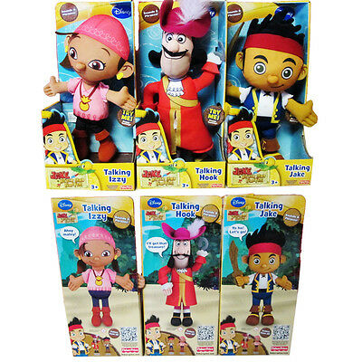 1pcs Disney Jake and The Neverland Pirates Talking Jake Izzy Plush Doll Soft Toy