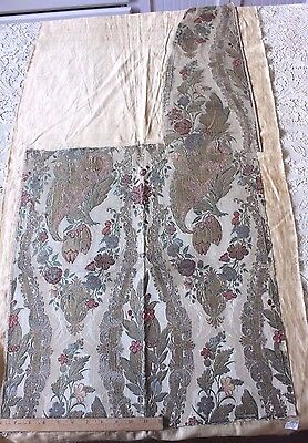 "Exquisite 18thC French ""Bizarre"" Gold & Silver Silk Metallic Brocade Fabric"