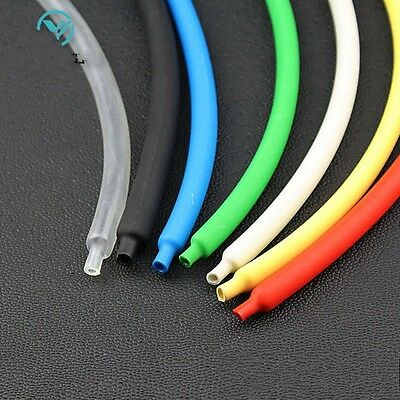Φ5mm Sleeving Cable 2:1 Heat Shrink Tubing Electrical Wrap Tube 7 Colors 1-20M