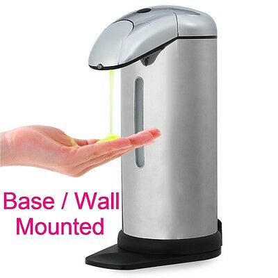 NEW 500ml Automatic Touch-free Auto-soap Sanitizer Dispenser w/ Infrared Sensor