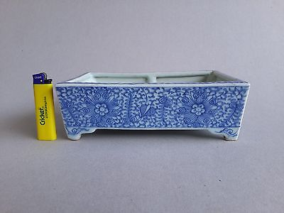 Chinese fine blue and white narcissus or bonzai container. Qing, early 19thC