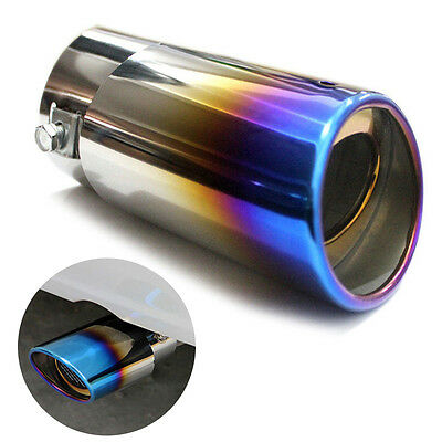 Universal Car Auto Stainless Steel Exhaust Muffler Tail Pipe Tip Trim Round 58mm