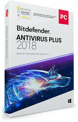 Bitdefender Antivirus Plus 2018 - 1 PC | 1 Jahr / 365 Tage (Download)