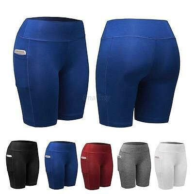AU Women Compression Shorts Sports Gym Fitness Running Exercise Pants Trousers