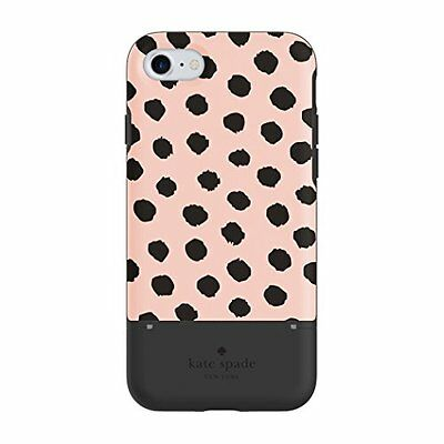 kate spade new york Credit Card Case for iPhone 7, Musical Dot Blush/Black