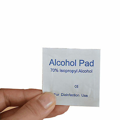 100 PCS Alcohol Prep Pad Medical Wipe Swab Cleanser Disinfection Home First Aid