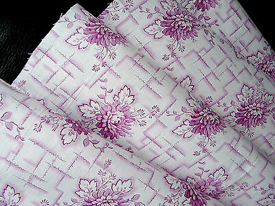 Vintage French cotton fabric organic from 1930s in new condition NEW LOWER PRICE
