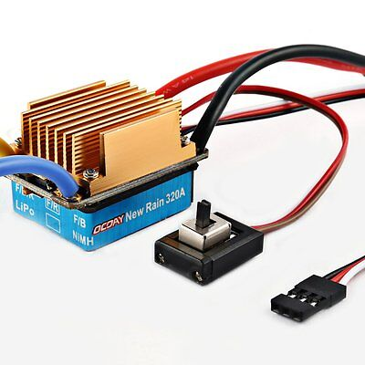 60A 3S Brushed ESC Waterproof Electronic Speed Controller OCDAY For RC Car