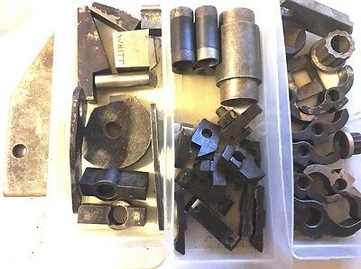 Lot Of Screw Machine CNC Metal Lathe Parts Cutters Round Cutting Tool Holder