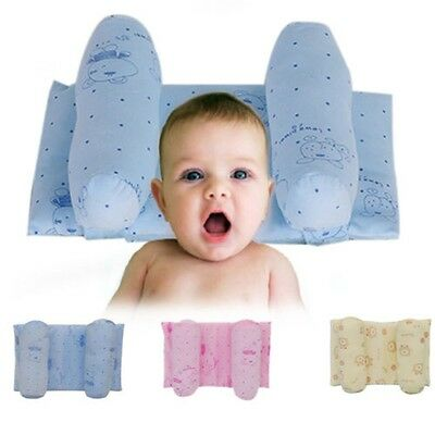 Baby Infant Sleep Positioner Cot Pillow Prevent Flat Head Anti Roll Retractable