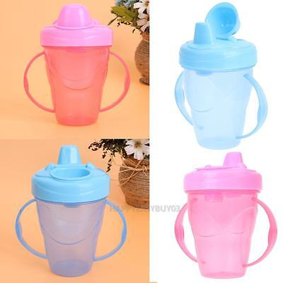 180ml Newborn Baby Training Cups with Handles Drink Water Bottles Sippy Outdoor