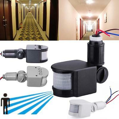 12M Security PIR Infrared Motion Sensor Detector Wall LED Lights Outdoor RF CB