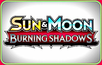 Sun & Moon BURNING SHADOWS Booster Code Cards - Pokemon Online TCG XY Codes