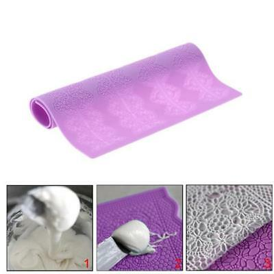 NEW Flower Silicone Lace Mat Mold Mould Sugarcraft Embossed Fondant Cake - CB