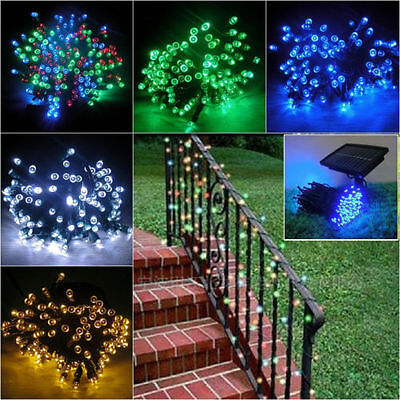 200 LED Solar Power Fairy Lights String Garden Outdoor Wedding Party Decor Xmas