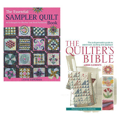 Quilter's Bible Collection 2 Books Set By Lynne Edwards & Linda Clements New