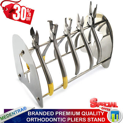 1 X Stainless Steel Ortho Pliers Stand Rack Orthodontic Laboratory Pliers Holder