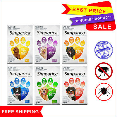 SIMPARICA 3 Chews for Dogs All Sizes Flea and Tick treatment by Zoetis