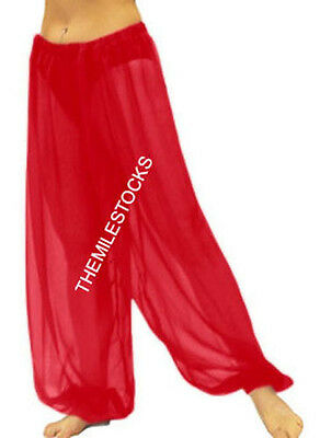 Red - TMS Harem Yoga Pant Belly Dance Gypsy Pantalons Trousers - 25 Color