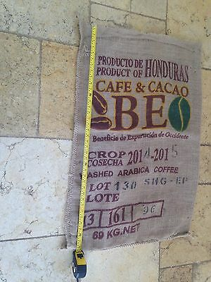 Quantity of Printed large Old Hessian Coffee Bean Sacks for interior design etc
