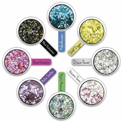 Paint Glow Chunky Glitter Flakes Sparkle Festival Face Hair Shimmer Party