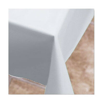 """Hoffmaster FT10801W 54"""" x 108"""" White Plastic Table Cover - 12 per case"""