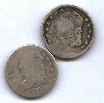 1835 & 1836 Bust Half Dimes * Tough Type Coins * Issues No Hole * Affordable !!