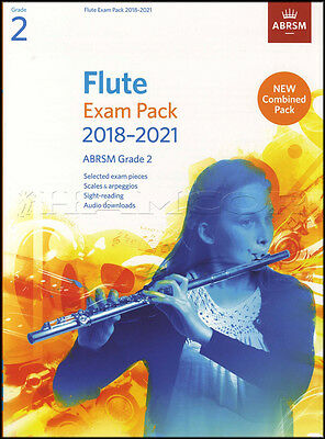 Flute Exam Pack 2018-2021 ABRSM Grade 2 Sheet Music Book/Audio Scales Arpeggios