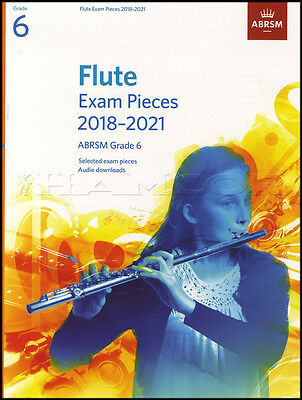 Flute Exam Pieces 2018-2021 ABRSM Grade 6 Sheet Music Book with Audio