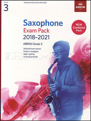 Saxophone Exam Pack 2018-2021 ABRSM Grade 3 Music Book/Audio Scales Arpeggios
