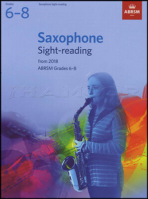 Saxophone Sight Reading Tests from 2018 ABRSM Grades 6-8 Sheet Music Book