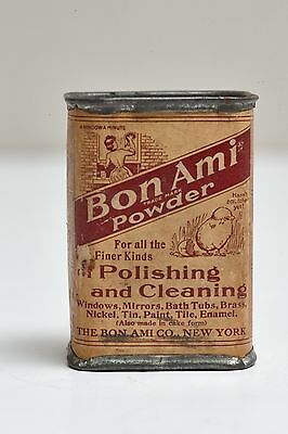 "Collectible Vintage Bon Ami Household Cleaning Powder Unopened 2.5"" Can"