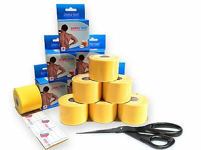 Kinesiology Tape Yellow - Simple Tape - 5M in Various sparsets